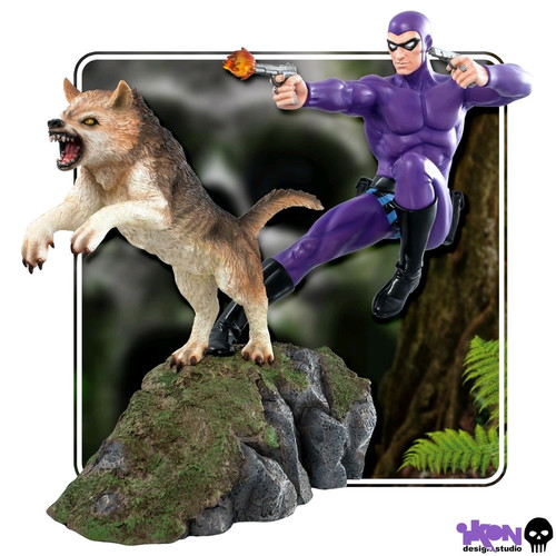 The Phantom - Phantom and Devil Purple Suit Statue-IKO1227-IKON DESIGN STUDIO