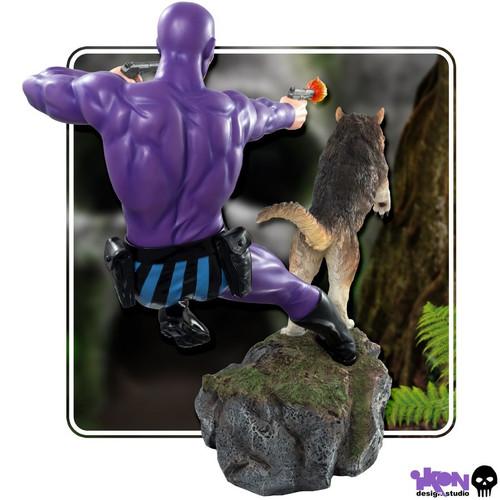 The Phantom - Phantom and Devil Purple Suit Statue-IKO1227-IKON DESIGN STUDIO