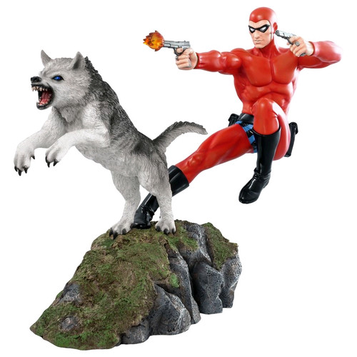 The Phantom - Phantom and Devil Red Suit Statue-IKO1619-IKON DESIGN STUDIO