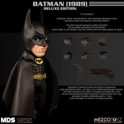 Batman 1989 - Batman Designer Figure-MEZ38700-MEZCO TOYZ