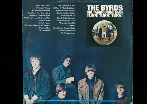 The Byrds-Mr. Tambourine Man / Turn! Turn! Turn!-VINYL LP-USED-Canada press