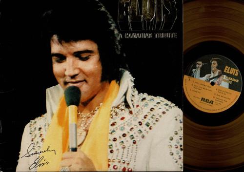 Elvis Presley-A Canadian Tribute-VINYL LP-USED-Canada press