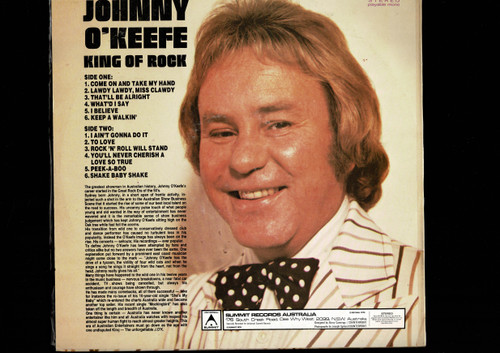 Johnny O'Keefe-King Of Rock-VINYL LP-USED-Aussie press