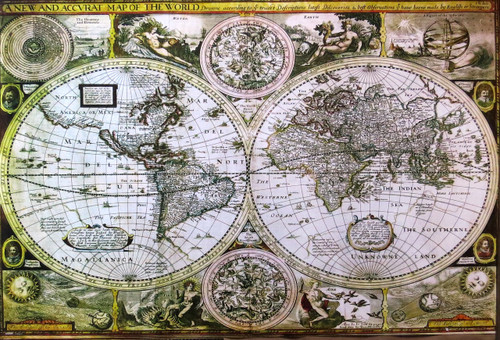 World Map Historical- Poster-Laminated available-90cm x 60cm-Brand New