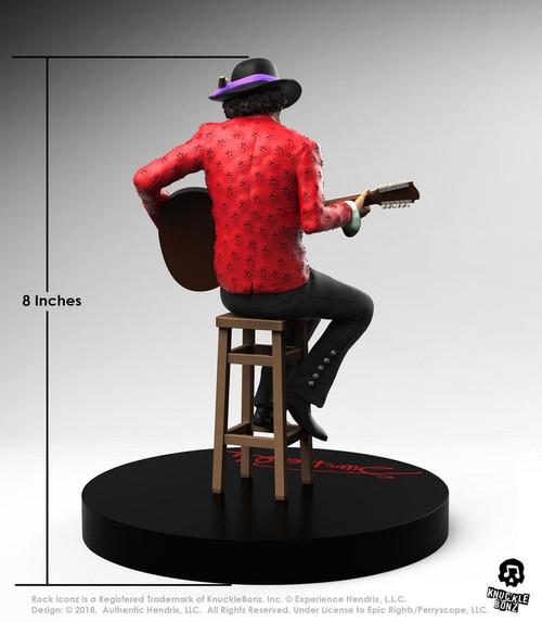 Jimi Hendrix - 2nd Edition Rock Iconz Statue-KNUJIMI200-KNUCKLEBONZ