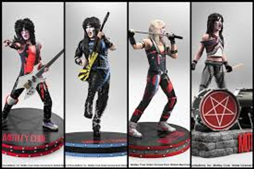 Motley Crue - Rock Iconz Statue Set of 4-KNUMCRUE100-KNUCKLEBONZ