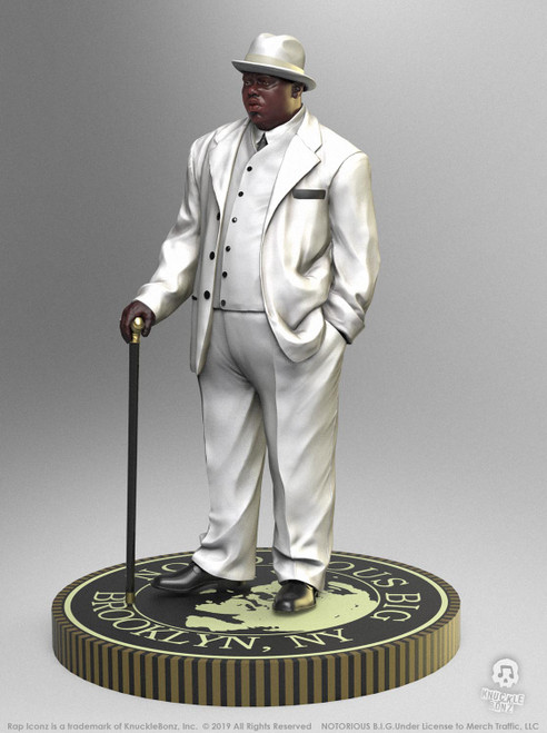 Notorious B.I.G. - Biggie Smalls Rock Iconz Statue-KNUBIGGIE100-KNUCKLEBONZ