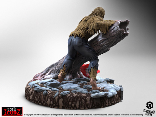 Ozzy Osbourne - Bark at the Moon Rock Iconz Statue-KNUBATM100-KNUCKLEBONZ