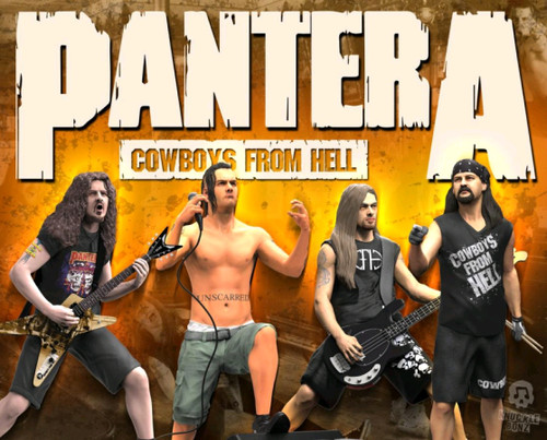 Pantera - Set of 4 Rock Iconz Statues-KNUPANTERA100-KNUCKLEBONZ