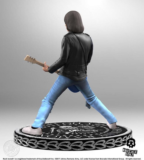 Ramones - Johnny Ramone Rock Iconz Statue-KNUJR100-KNUCKLEBONZ