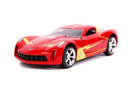 Flash - Chevy Corvette Stingray 2009 1:32 Scale Hollywood Ride-JAD31610-JADA TOYS