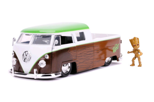 Guardians of the Galaxy: Vol. 2 - 1962 Volkswagon Bus with Groot 1:24 Scale Hollywood Ride-JAD31202-JADA TOYS