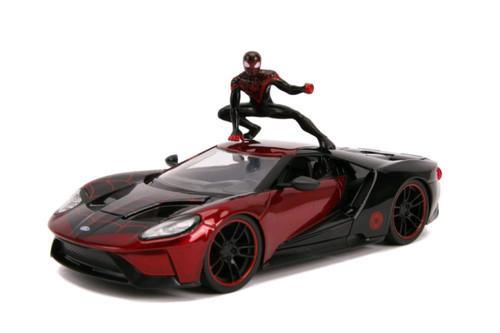 Spider-Man - Miles Morales 2017 Ford GT 1:24 Scale Hollywood Ride-JAD31190-JADA TOYS
