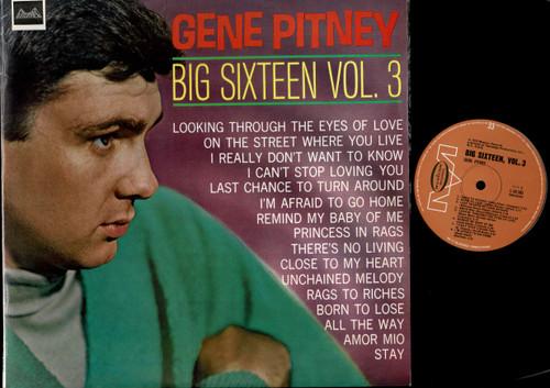 Gene Pitney-Big Sixteen Volume 3-VINYL LP-USED-Aussie press