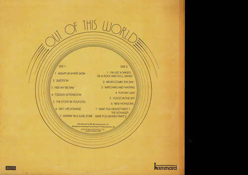 The Moody Blues-Out Of This World-VINYL LP-USED-Aussie press