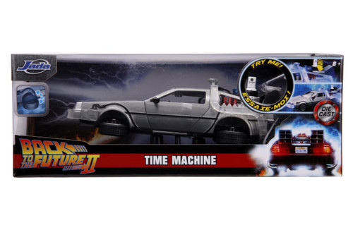 Back to the Future 2 - Delorean 1:24 Scale Hollywood Ride-JAD31468-Jada Toys