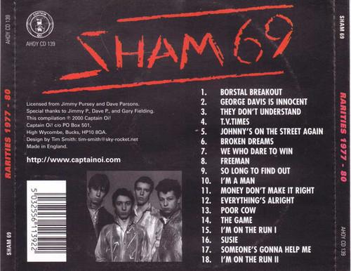 Sham 69 – Rarities 1977 - 80 CD-Brand New