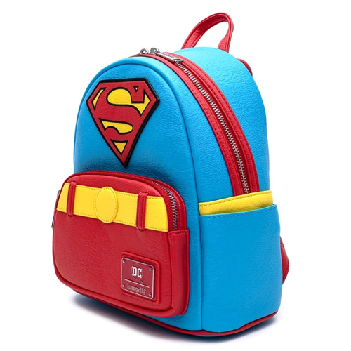 Superman - Vintage Mini Backpack-LOUDCCBK0042-LOUNGEFLY
