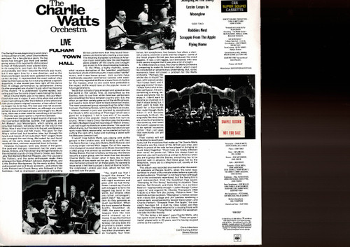The Charlie Watts Orchestra-Live At  Fulham Town Hall-VINYL LP-USED-Aussie press-LP_1013