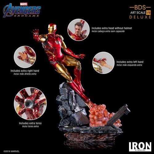 Avengers 4: Endgame - Iron Man Mark LXXXV Deluxe 1:10 Scale Statue-IRO99530-IRON STUDIOS