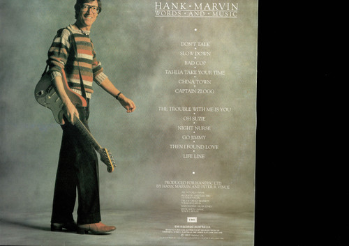 Hank Marvin-Words And Music-VINYL LP-USED-Aussie press-LP_1073