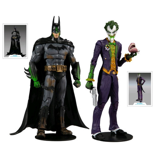 """Batman Arkham Asylum - Batman & Joker 7"""" Action Figure 2-pack-MCF15348-McFarlane Toys"""