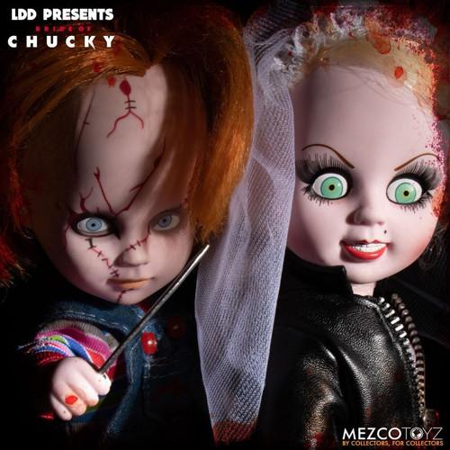 Living Dead Dolls - Chucky & Tiffany 2-Pack-MEZ94280-MEZCO TOYZ
