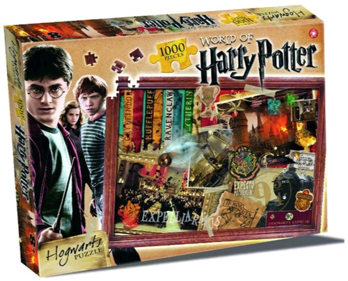 Harry Potter - Hogwarts 1000 piece Jigsaw Puzzle-WINWM00371-WINNING MOVES