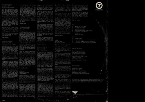 Roger Chapman And The Shortlist-Live In Hamburg-VINYL LP-USED-Aussie press-LP_1251