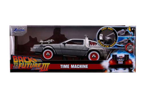 Back to the Future 3 - Time Machine Raw Metal 1:24 Scale Hollywood Ride-JAD32166-JADA TOYS