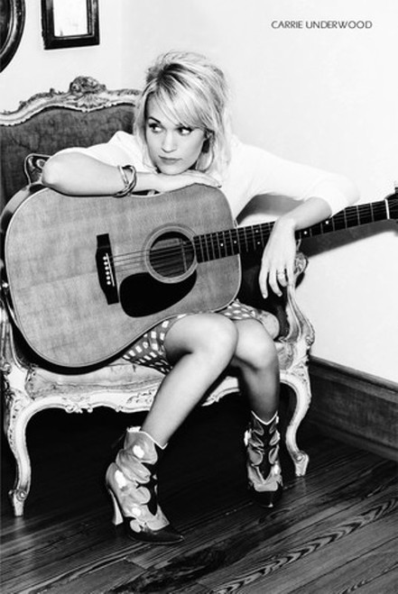 Carrie Underwood-Guitar Poster-Laminated available-Poster-Laminated available-90cm x 60cm-Brand New