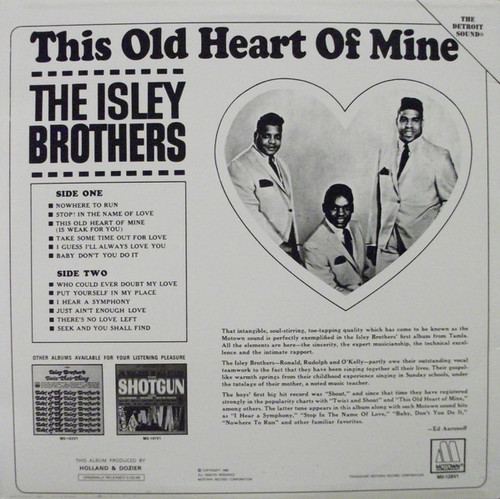 ISLEY BROTHERS-This Old Heart Of Mine Vinyl LP-Brand New-Still Sealed-SC