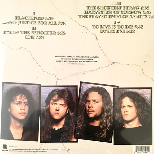 METALLICA-And Justice For All (2 LP's)-Vinyl Double LP-Brand New-Still Sealed-SC