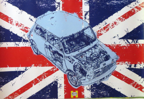 MINI-Haynes Cover (Union Jack)-Poster-Laminated available-90cm x 60cm-Brand New