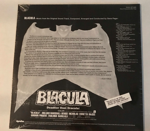BLACULA-Original Soundtrack Vinyl LP-Brand New-Still Sealed