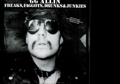 GG ALLIN-Freaks, Faggots, Drunks & Junkies Vinyl LP-Brand New-Still Sealed