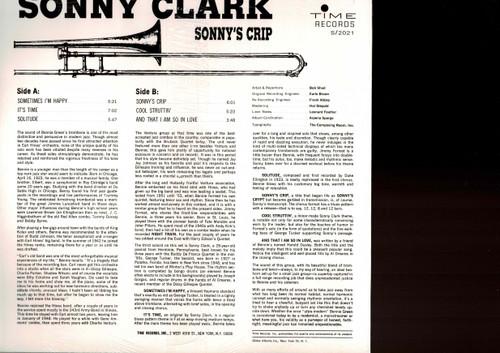 SONNY CLARK-Sonny's Crip Vinyl LP-Brand New-Still Sealed