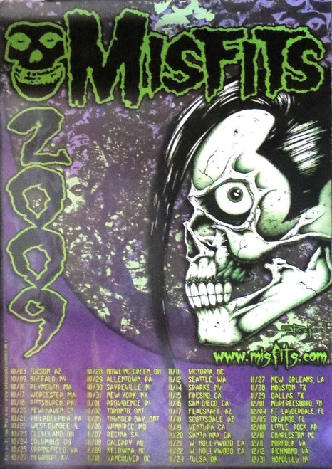 MISFITS DEVILOCK TOUR 2009  - -Poster-Laminated available-70cm x 50cm-Brand New