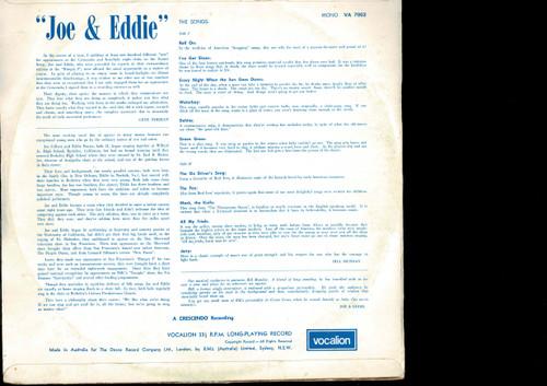 Joe & Eddie-Joe & Eddie-VINYL LP-USED-Australian press-VILP_1324