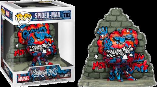 SpiderMan - Graffiti Deco US Exclusive Pop! Deluxe [RS]-FUN49544-FUNKO