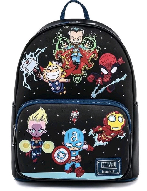 Marvel - Chibi Group Mini Backpack-LOUMVBK0143-LOUNGEFLY