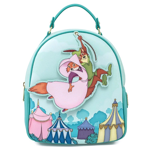 Robin Hood - Robin Rescues Marian Mini Backpack-LOUWDBK1448-LOUNGEFLY