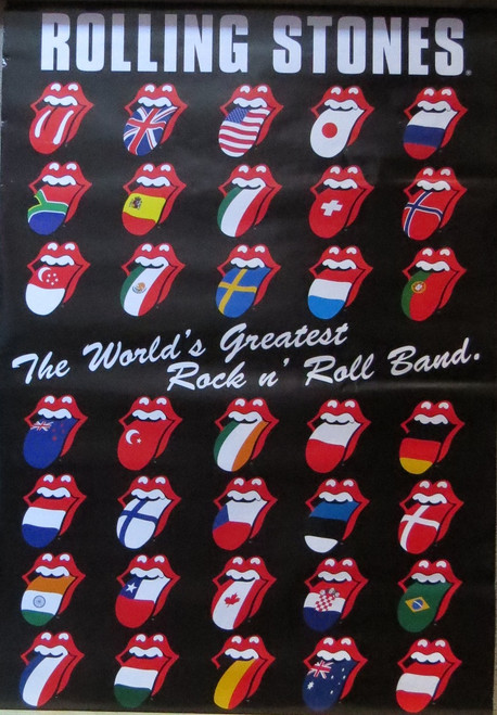 ROLLING STONES TONGUES-Poster-Laminated available-90cm x 60cm-Brand New