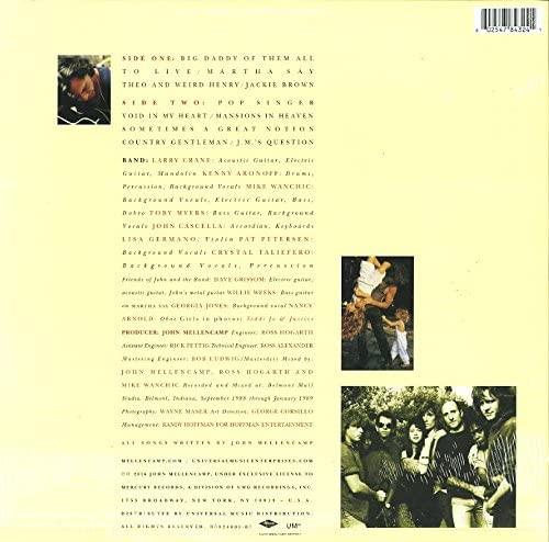 MELLENCAMP, JOHN-BIG DADDY [180 GRAM]-180 GRAM Vinyl LP Brand New/Still Sealed