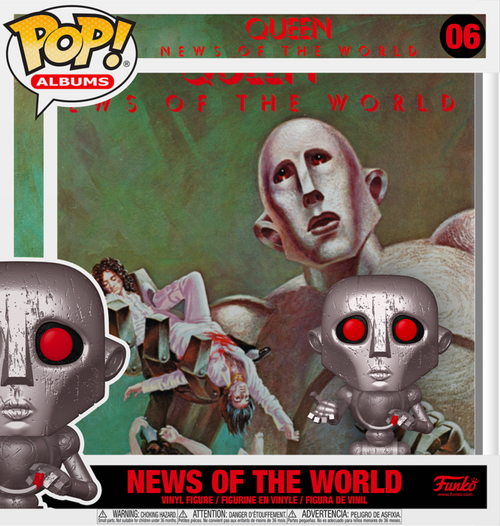 Queen - News of the World Metallic Pop! Album-FUN53081-FUNKO