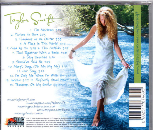 TAYLOR SWIFT-Self Titled CD-Brand New-Still Sealed