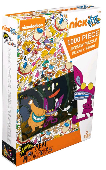 Aaahh!!! Real Monsters - Sewer Tunnel 1000 piece Jigsaw Puzzle-IKO1808-IKON COLLECTABLES
