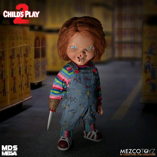 "Child's Play 2 - Menacing Chucky 15"" Mega Figure-MEZ78023-MEZCO TOYZ"