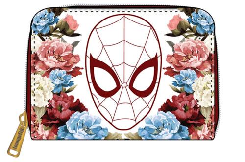 Spider-Man - Floral Zip Purse-LOUMVWA0144-LOUNGEFLY