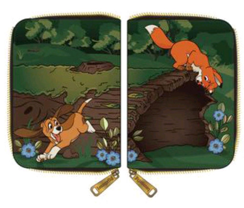 The Fox and the Hound - Copper & Todd Zip Purse-LOUWDWA1572-LOUNGEFLY